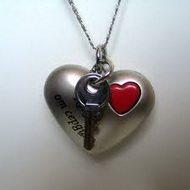 Романтичный кулон ключ от сердца
