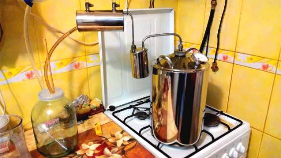 Приготовление самогона в аппарате Магарыч