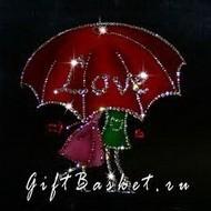 Картина из кристаллов любовь