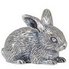 Серебряный сувенир кролик
