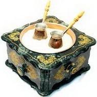 Мраморный кофейный набор