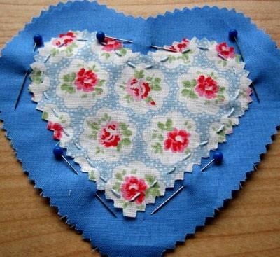 Сшиваем два больших сердца