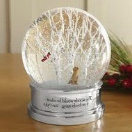 Стеклянный снежный шар