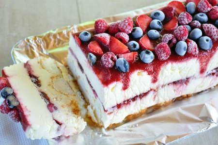 торт замороженный с белым шоколадом