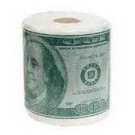 Туалетная бумага доллары
