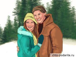 Девушка с парнем в канун Нового года