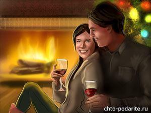 Жена с мужем в канун Нового года