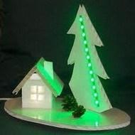 Декоративный новогодний светильник