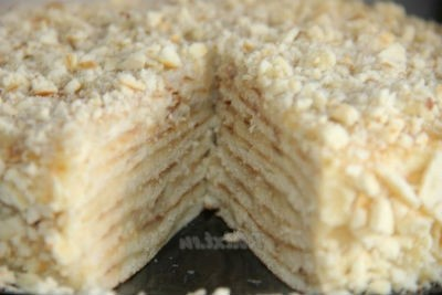 Торт Минутка на сковороде