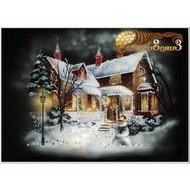 Картина рождественский домик