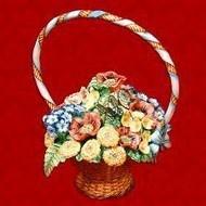 Подарочный штоф букет цветов