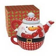 Заварочный чайник-снеговик
