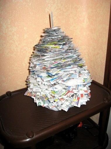 Нанизываем газету