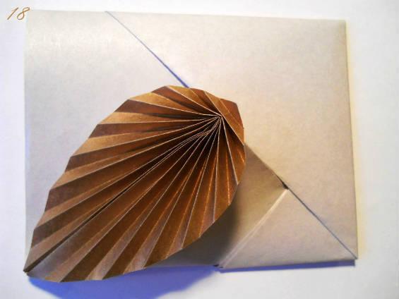 Конверт-оригами из бумаги своими руками готов!