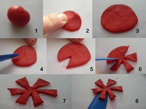 Создание стилизованных цветов для винтажной бабочки