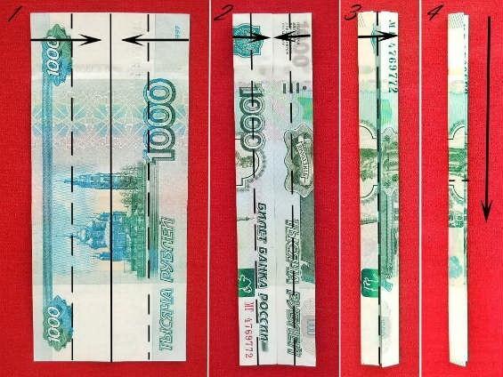 Пошаговая сборка очков из денег
