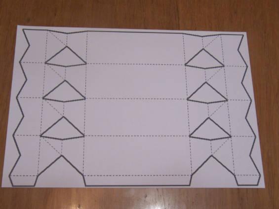 Рисуем схему будущей подарочной упаковки