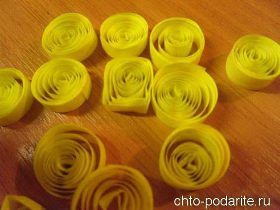 Спиральки из бумажных лент