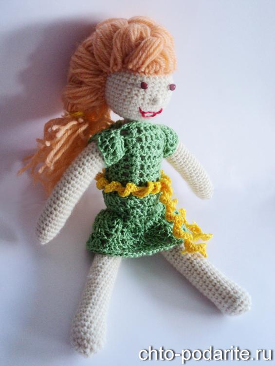 Вязаная кукла своими руками