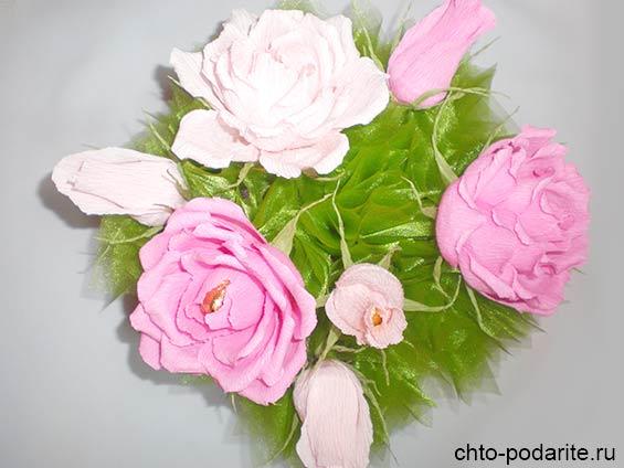 """Букет из конфет """"Розы"""" с фунтиками"""