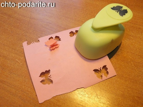екор конверта для денег бабочки