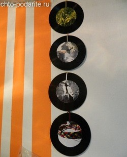 Фоторамки из виниловых пластинок