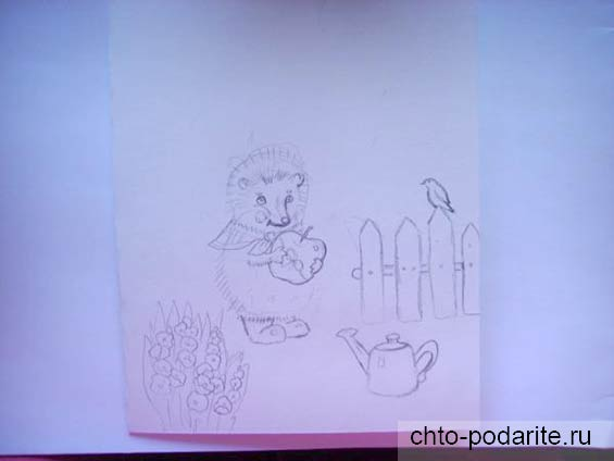 Рисуем на бумаге простым карандашом фигурки