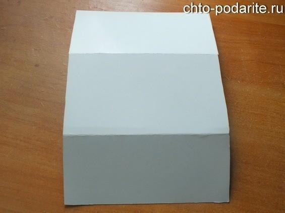 Конверт для денег из картона