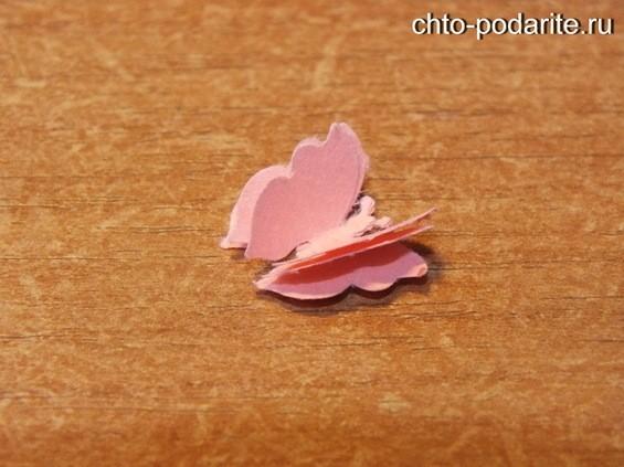 Украшение конверта бабочка