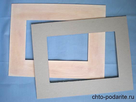 Вырезаем две заготовки из картона