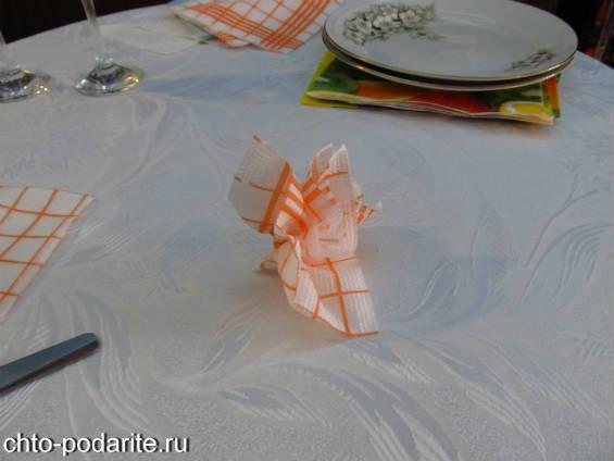 Сервировка стола салфетками с фото пошагово