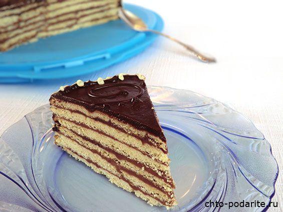 Приготовление многослойного песочного торта с шоколадным кремом - шаг 16