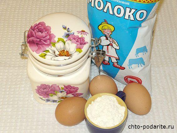 """Ингредиенты заварного крема торта """"Наполеон"""""""