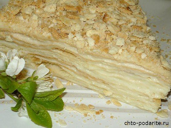 """Кусочек торта """"Наполеон"""""""