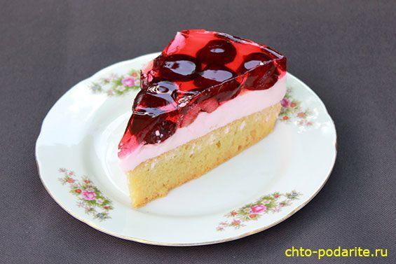 Приготовление трехслойного освежающего желейного ягодного торта, шаг 30