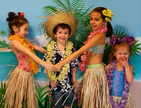 Тропическая или гавайская вечеринка - идея для детского праздника