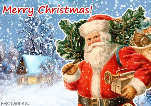 """Виртуальная открытка для форума """"Merry Christmas!"""""""