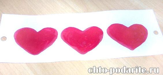 Изготовление открытки–лотереи на День Святого Валентина, шаг 4