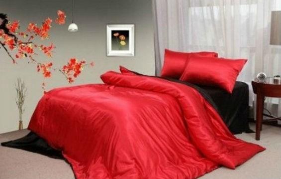 Красное и черное постельное белье