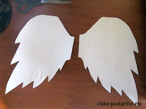 Как сделать крылья из бумаги своими руками