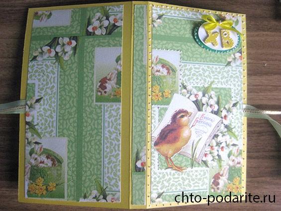 Мастер-класс: открытка-шоколадница на Пасху