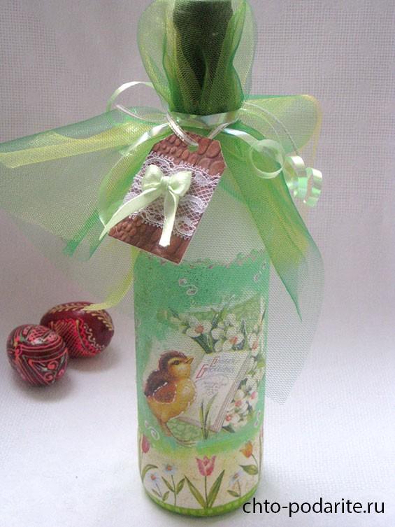 Как оформить бутылку в подарок своими руками