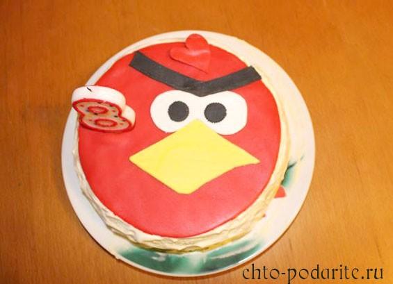 Торт в стиле Angry Birds