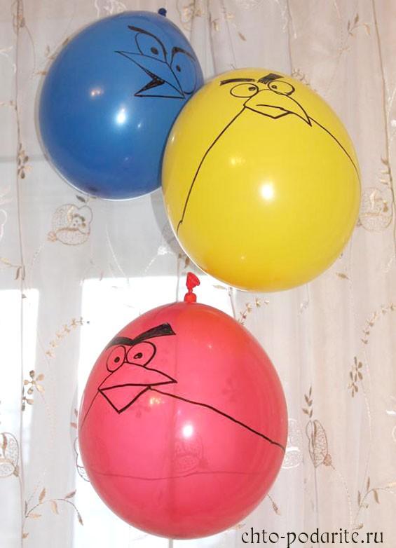 Воздушные шары в стиле Angry Birds