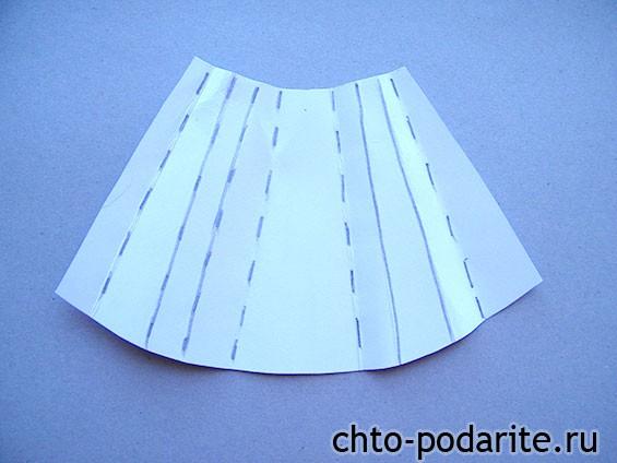 Схема изгиба картона для платья невесты