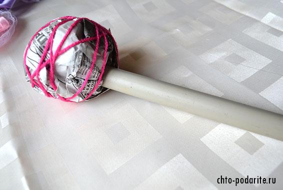 Заготовка ствола для топиария из атласных роз