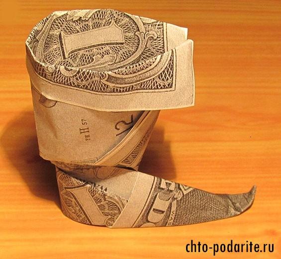 Сапог из денег