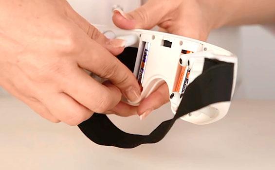 Замена батареек в тренажере для глаз FitStudio