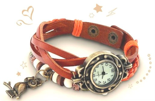 Часы с брелком совы