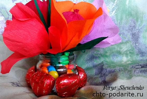 Букет из конфет Цветочная фантазия